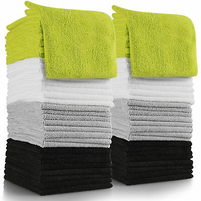 Microfiber Cleaning Cloth Set of 64 Towel Rag Car Polishing No Scratch Detailing