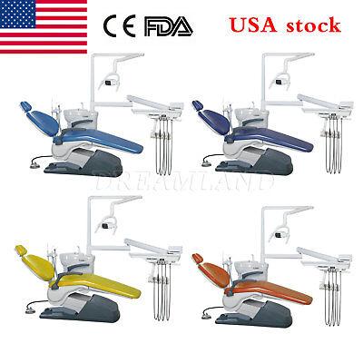 Dental Unit Dental Chair Computer Controlled Fda Dc Hard Leather W Stool Uq