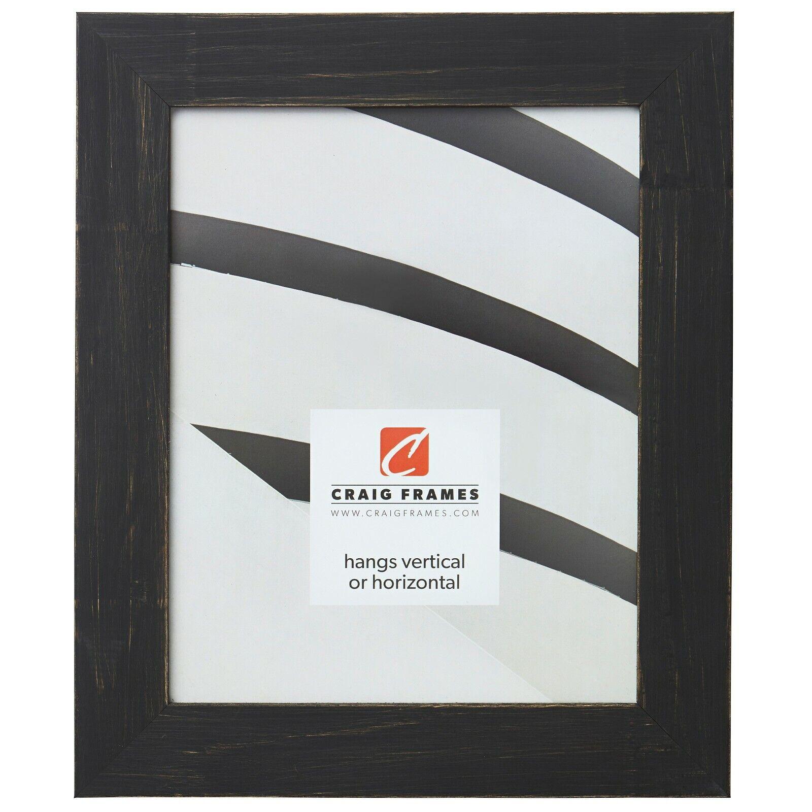 "Craig Frames Jasper, 1.5"" Country Charcoal Black Picture Fra"