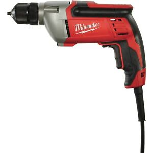 Milwaukee Corded Electric Drill- 3/8 in Keyless Chuck 8.0 Amp 2800 RPM 0240-20