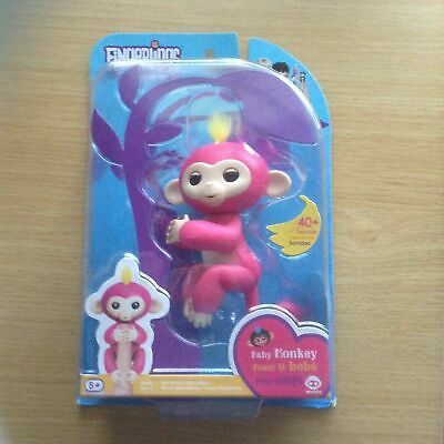 * NEW * FINGERLINGS INTERACTIVE PET BABY MONKEY AUTHENTIC WowWe Bella Pink
