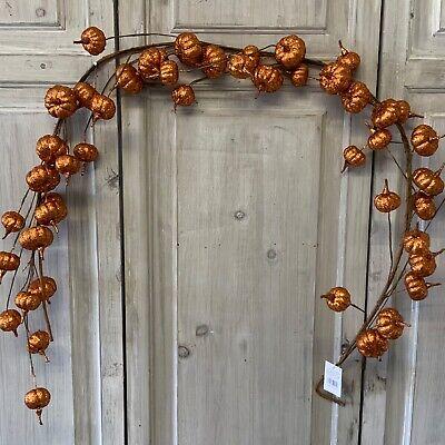 1.5m Orange Pumpkin Glitter Halloween Garland Mantel Decoration Door