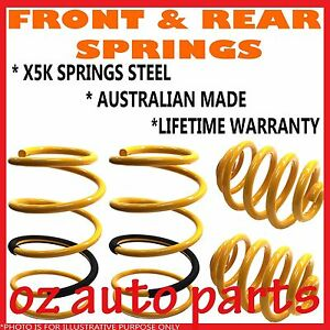 FRONT & REAR LOWERED 30MM SPRINGS TO SUIT SUBARU FORESTER MY99 MY2000 MY2001