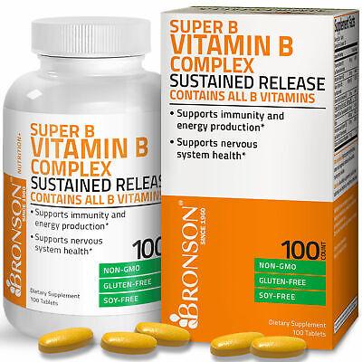 VITAMIN B COMPLEX Sustained Release B1 B2 B3 B6 Folic Acid B12 100 Tablets