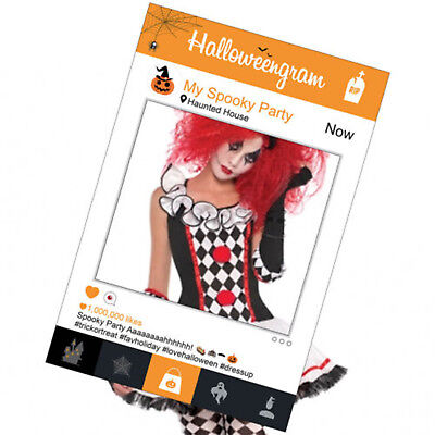 Instagram Photo Selfie Frame Halloween Costume Fancy Dress Party Personalised (Personalized Halloween Frames)