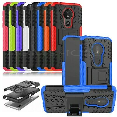 Heavy Duty Hybrid Shockproof Stand Case For Motorola Moto G7 Play Power G6 E5 G8