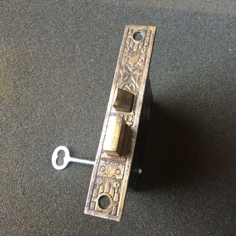 Antique Reading Hardware Co. Windsor Design Faceplate Mortise Lock #1