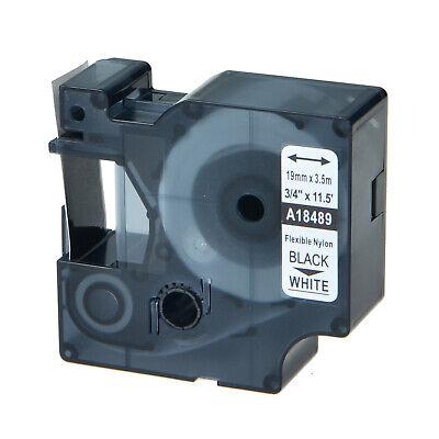 20 For Dymo Rhino 4200 5200 34 Black On White Flexible Nylon Label Tape 18489