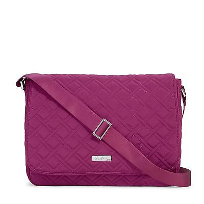 Vera Bradley Laptop Messenger Bag in Plum
