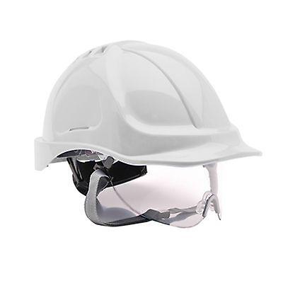 Portwest Endurance Visor Hard Hat Safety Helmet  WHITE Builders PW55