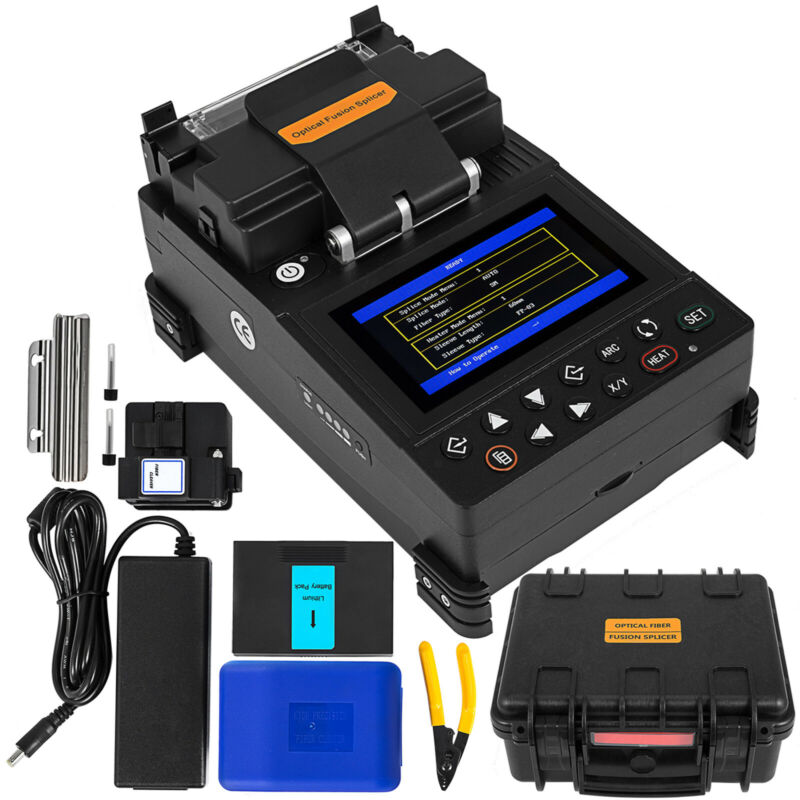 FL-115 Fiber Fusion Splicer Kits Automatic Fiber Optic Welding Splicing Machine
