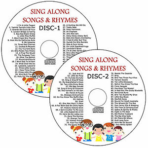 100-Childrens-Sing-along-Songs-2-CDs-Young-Kids-Favourite-Nursery-Rhymes-Songs