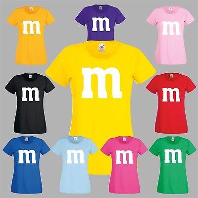 Kostüm für M&M Fan Gruppenkostüm Paarkostüm M und M Fasching Karneval MM Shirt (Kostüme Für Paare)