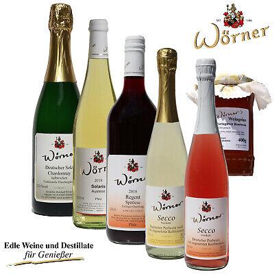 Weingut WÖRNER – Osterpaket, Überraschung zu Ostern: Wein Sekt Secco Weingelee