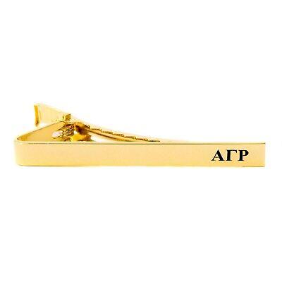 Alpha Gamma Rho AGR Fraternity Gold Color Letter Tie Bar/Clip AGR