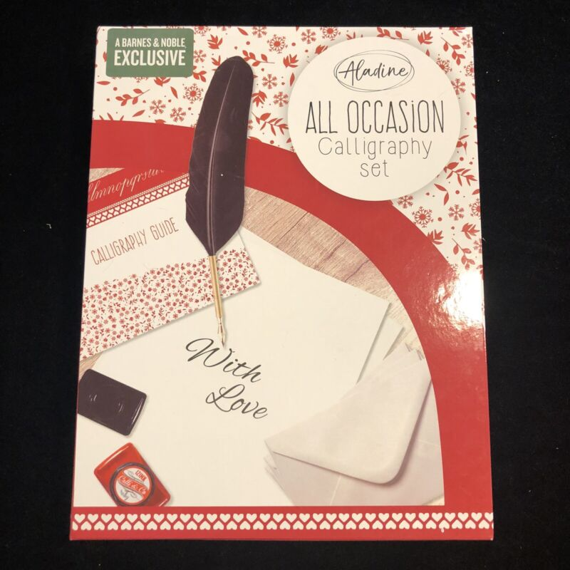 Aladine All Occasion Calligraphy Set Feather Quill and Ink Barnes & Noble