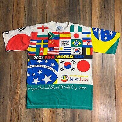 All World Flags (RARE 2002 FIFA World Cup Brazil World Flags All Over Print Football Soccer Tee)