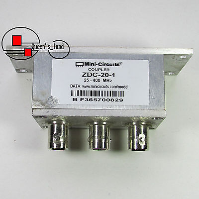 1used Mini-circuits Zdc-20-1 25-400mhz 20db Bnc Directional Coupler