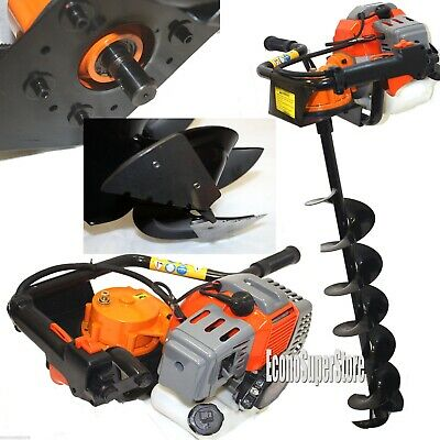 Ice Auger Drill Hole Post Digger 52cc Gas Power W8 Ice Bits Bit