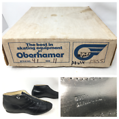 NOS Vintage Oberhamer Style 41 Feather Weight Size 11 Mens Low Cut Speed Boots