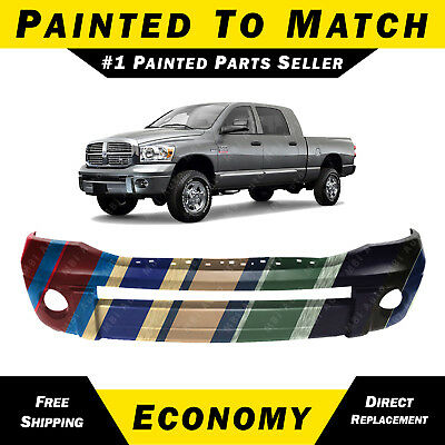 NEW Painted To Match Front Bumper Cover for 2006-2009 Dodge Ram Truck 68001349AA