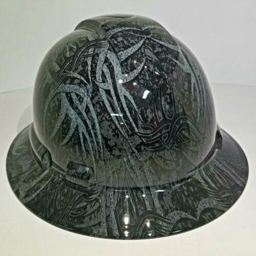 NEW FULL BRIM Hard Hat custom hydro dipped GOLDBERG TRIBAL JACK HAMMER TATTOO 5
