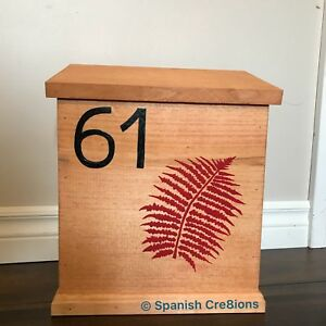 Personalized wooden mailboxes