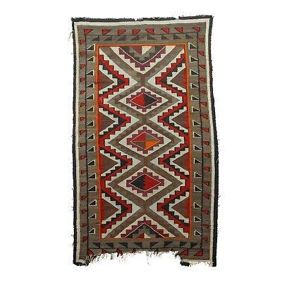 Navajo Rug Teec Nos Pos great color has wear