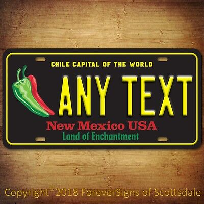 New Mexico ANY TEXT  Chile Capital Personalized Custom Vanity License Plate Tag