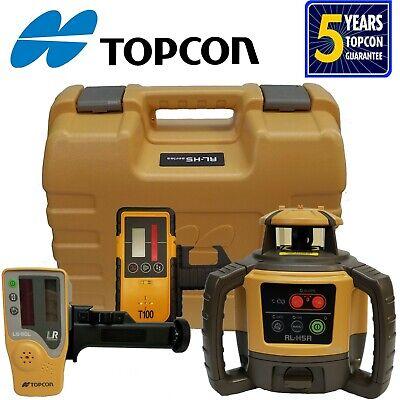 Topcon Model Rl-h5a Rotating Laser Level With Bonus T-100 Laser Receiver...