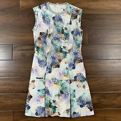 Rebecca Taylor Women's Size 4 Enchanted Garden Floral Drop Waist Dress -