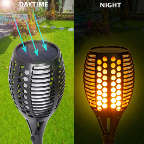 4Pack 96 LED Solar Torch Light Dancing Flickering Flame Lamp Waterproof New Home & Garden