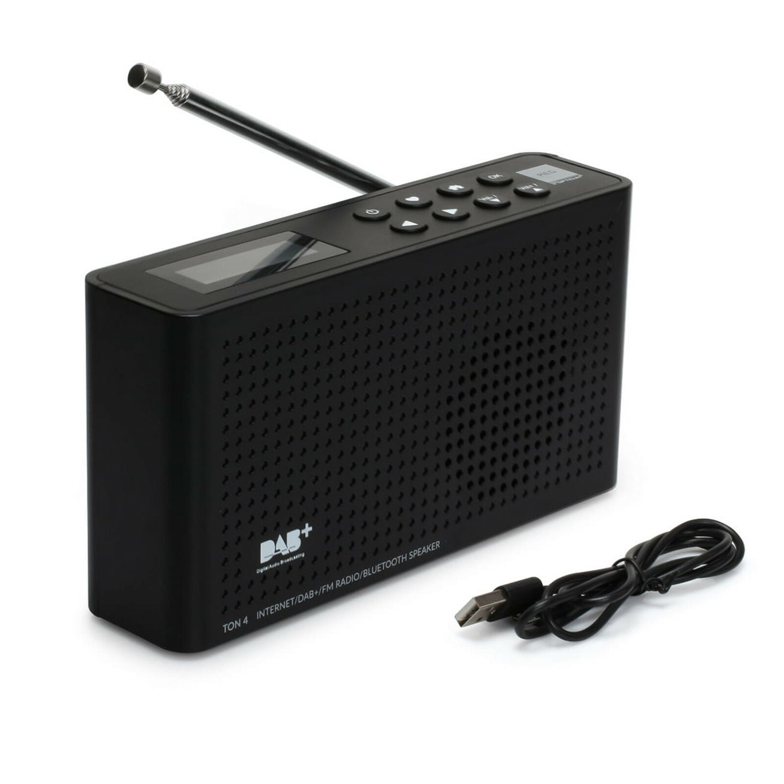 Internetradio DAB+ FM UKW Radio Opticum Ton4 LCD Display Wlan Bluetooth schwarz
