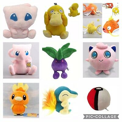 NEW Pokemon Plush Characters Stuffed Animal Toys Pokeball Pocket Monsters Dolls
