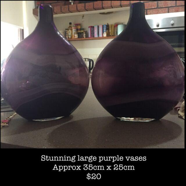 2x Stunning Large Unusual Purple Vases Vases Bowls Gumtree