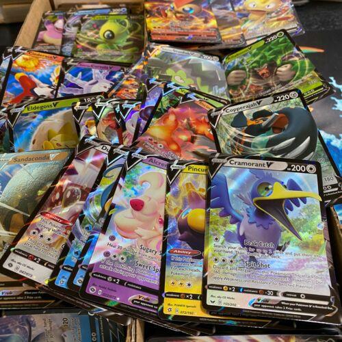 Pokemon Tcg! Card Gift Lot 100 Official Cards 1 Ultra Rare Included V Gx Ex Mega