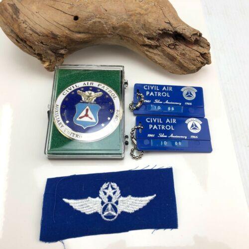 Vintage Civil Air Patrol Badge and anniversary fob lot