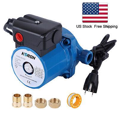Npt34 Hot Water Circulation Pump 100-120v Recirculatingcirculator Pump 3-spd