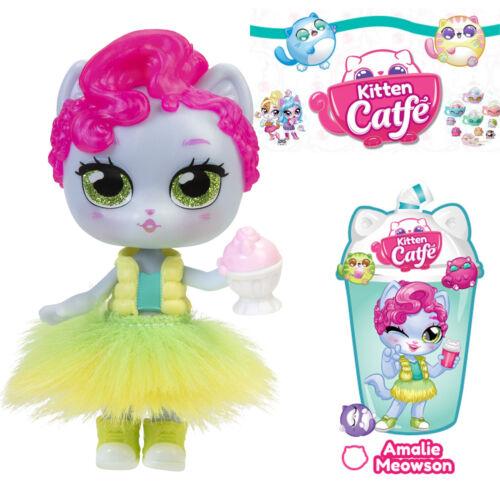 Jakks Series 4 Boba AMALIE MEOWSON Kitten Catfe Doll Gray Pink Purrista Girls