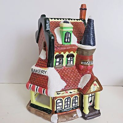 Unbranded BAKERY Porcelain Holiday Village Building 8 Inches Tall