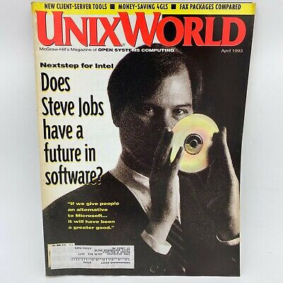 UnixWorld Magazine April 1993 Steve Jobs Next Computing Nextstep for Intel BK17