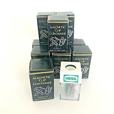 Paper Clip Dispenser Magnetic Holder 10 Pack Office School Hess W Paper Clips