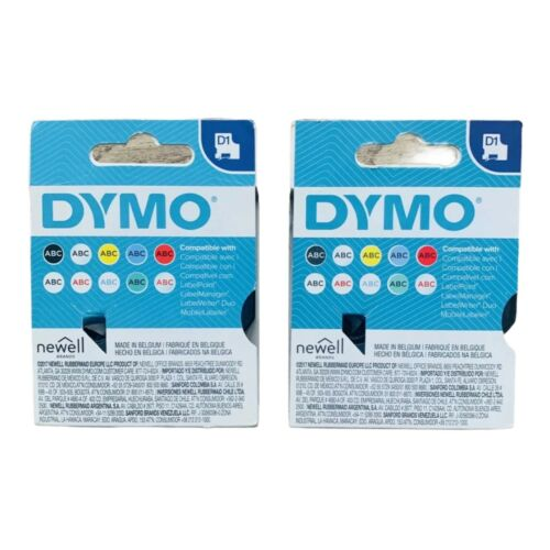 DYMO Standard D1 Labeling Tape Black print on White 1/2'' W