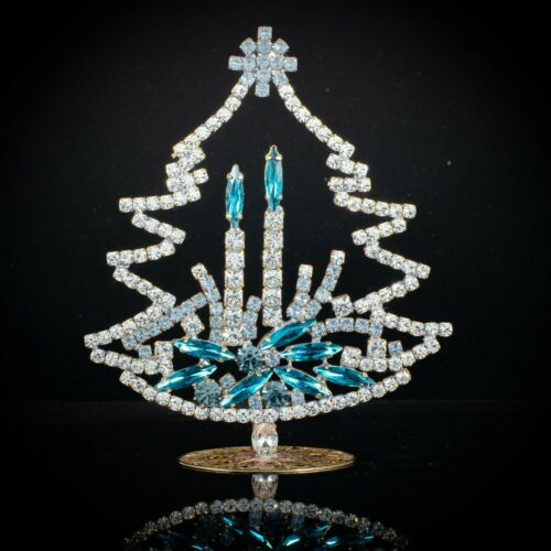 "Czech christmas tree - stand-up - rhinestone - 4.33"" x 3.54"""