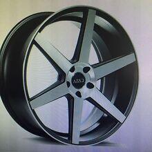 "New 22"" Azad 5 spoke concave machined black wheels BMW amarok Holden Rockdale Rockdale Area Preview"