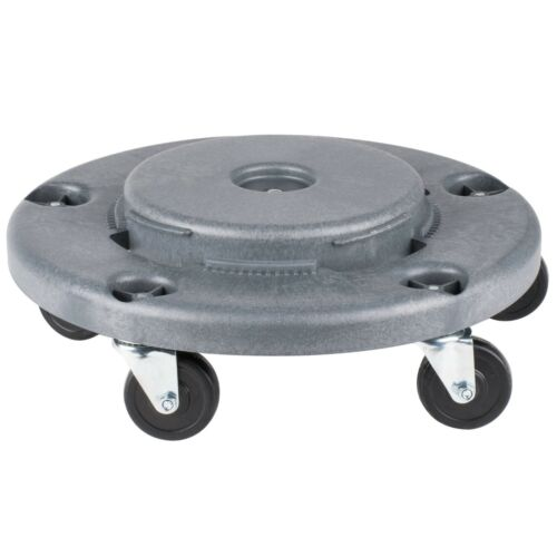 LOT of 3 Lavex Janitorial Gray Trash Can Dolly Casters 20 32 44 55 FAST SHIPPING