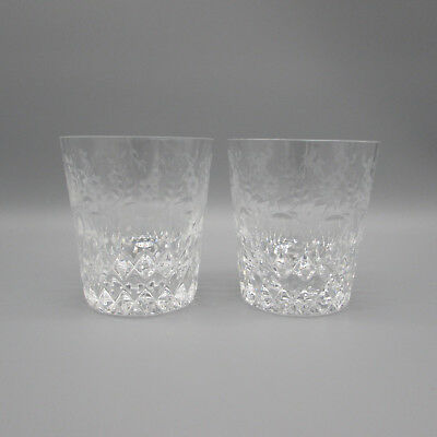 Rogaska Cut Crystal Gallia Whiskey Glasses - Set of Two