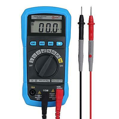 Aidetek Auto Range Multimeter Dmm Ohm Ac Dc Buzz Diode Hz Meter Frequency