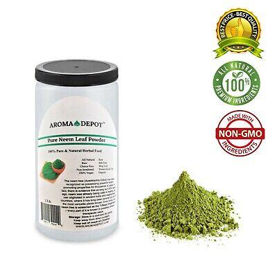 1lb Neem Dried Leaf Powder JAR Pure & Natural Raw Organic (Azadirachta indica)