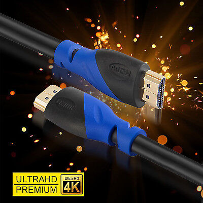 25FT Long HDMI Cable Ultra HD 4K 3D 2160p HDR ARC Compatible 2.1 2.0 a b 1.4 1.3